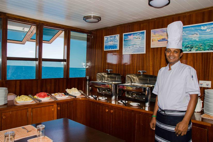 Dinner aboard Blue Force Two Maldives