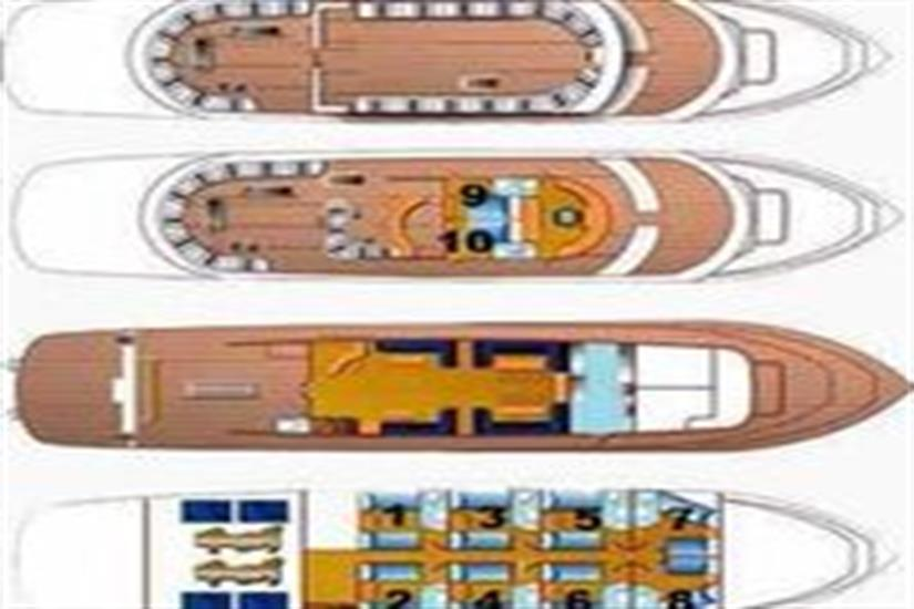 M/Y Obsession Liveaboard Red Sea Boat Plan