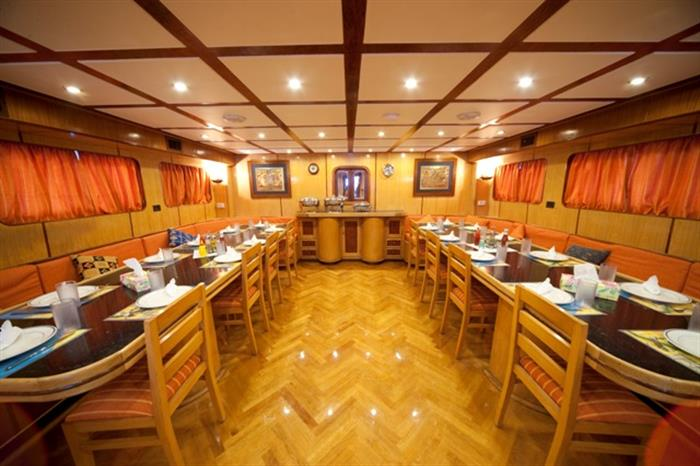 M/Y Sea Serpent Liveaboard Red Sea Dining Area