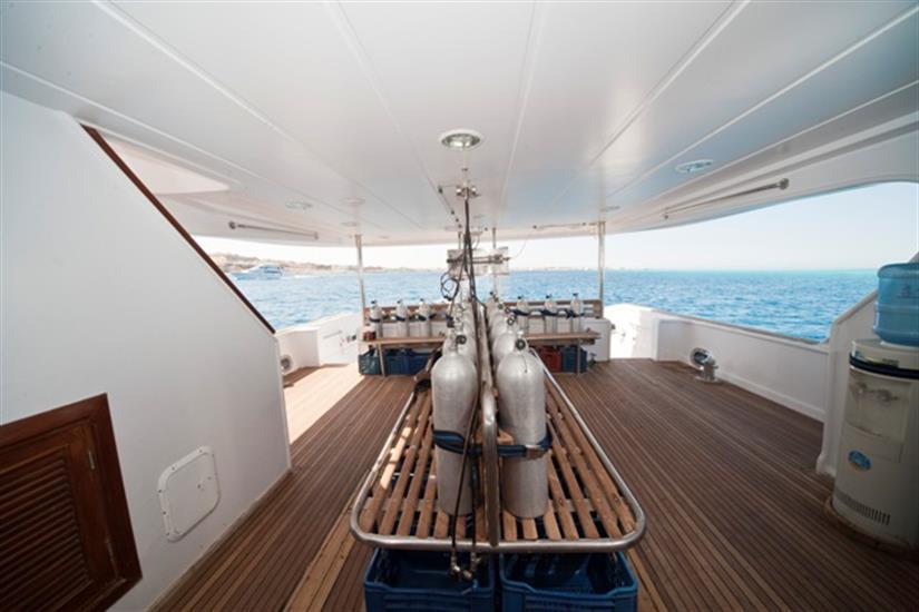 M/Y Sea Serpent Liveaboard Red Sea Dive Deck