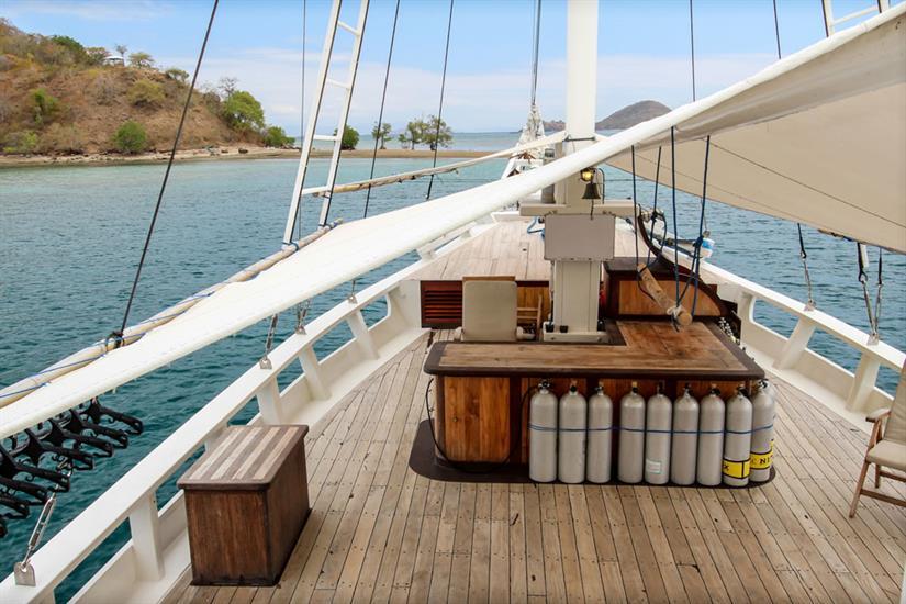 Top deck area - Duyung Baru Liveaboard