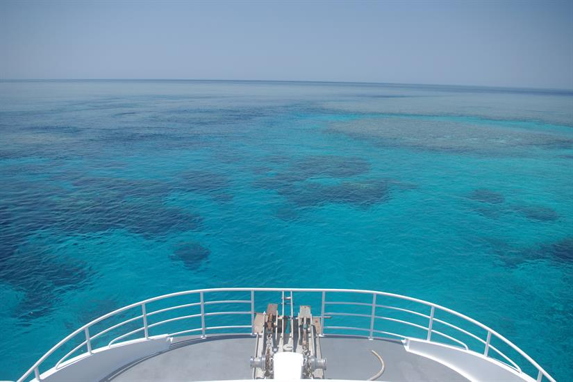 Mermaid Reef from the bow of Odyssey