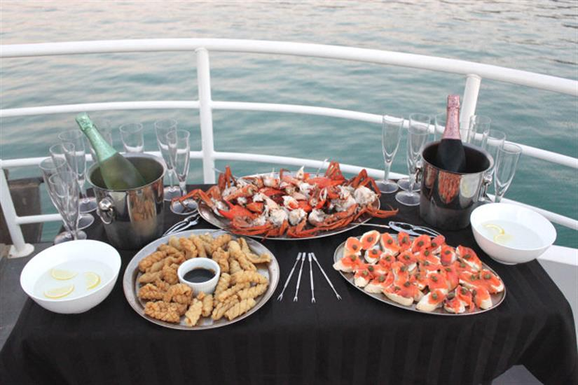 Fine dining aboard the MV Odyssey Liveaboard Australia