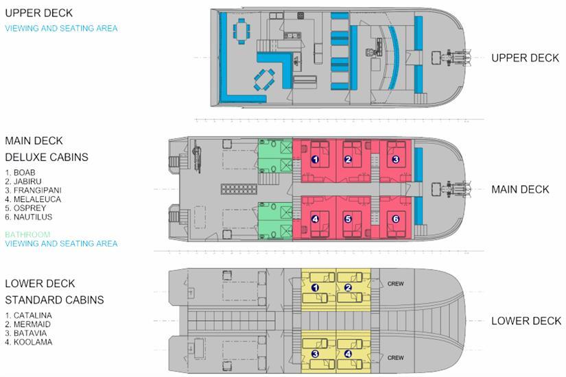 MV Odyssey Deck Plan