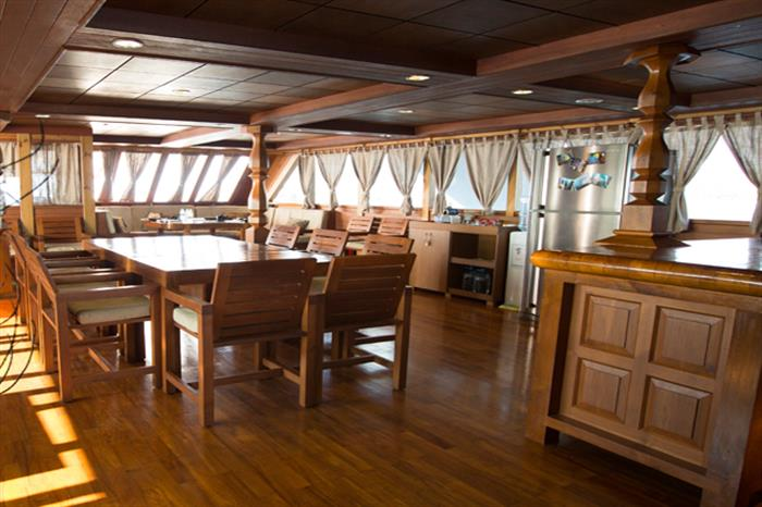 Indoor Dining Area - Princess Haleema Liveaboard