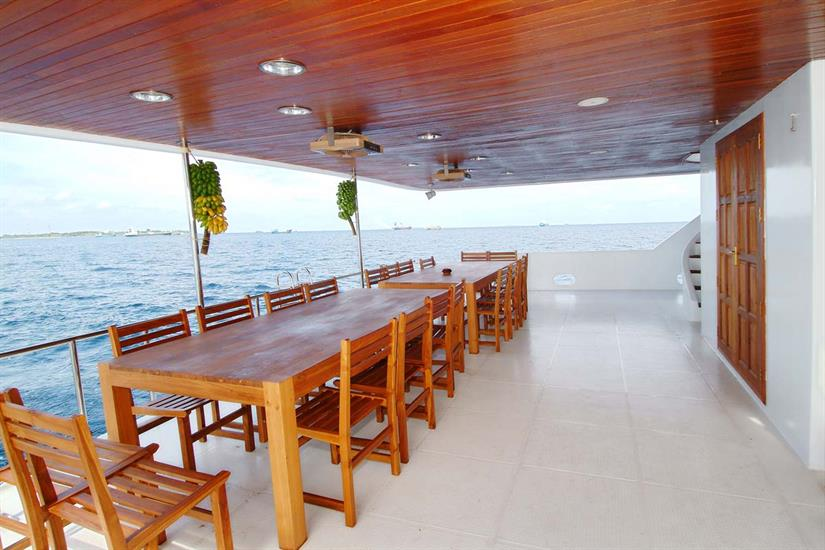 Outdoor Dining - Princess Haleema Liveaboard Maldives