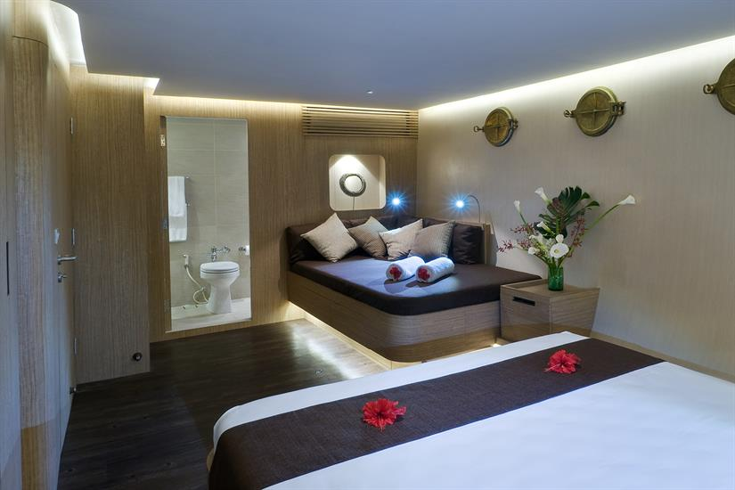 One of two Superlux suites on Pelagian Dive Yacht