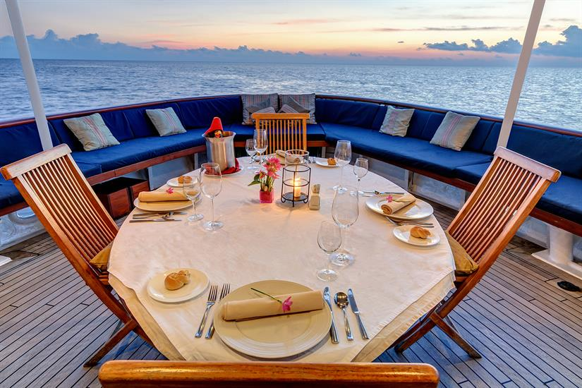 Guests can opt to enjoy a meal with a sunset view.