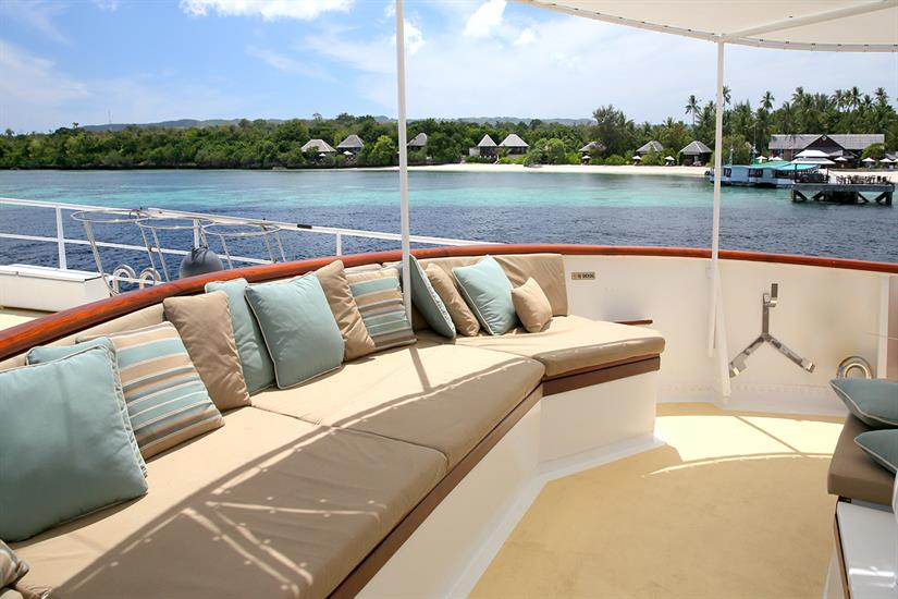 Additional forward deck space for catching a few rays.