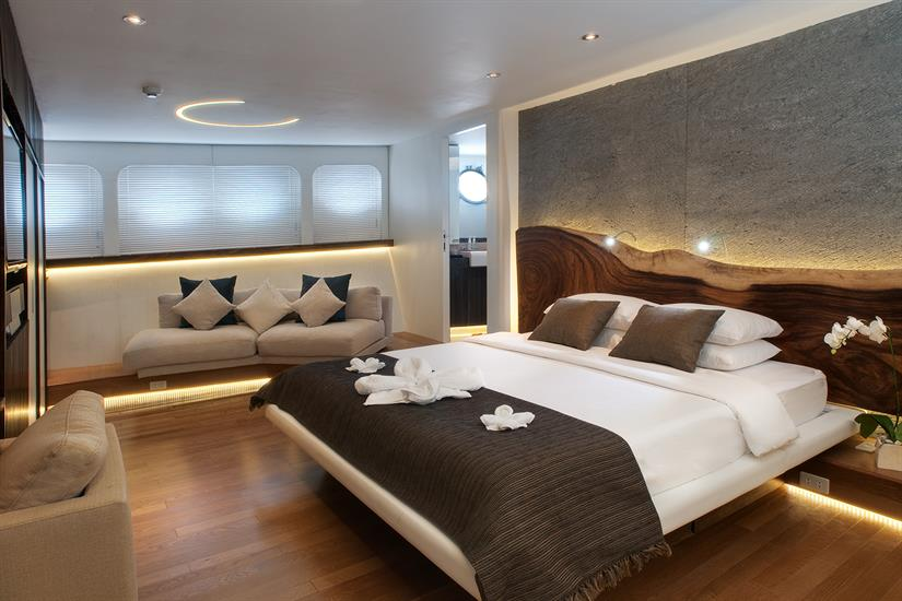 Pelagian Liveaboard Master Suite is home away from home.