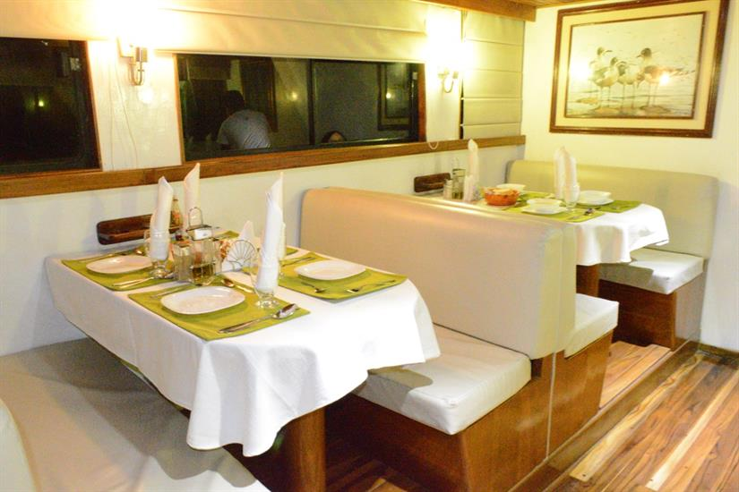 Indoor Dining Area - Astrea Liveaboard