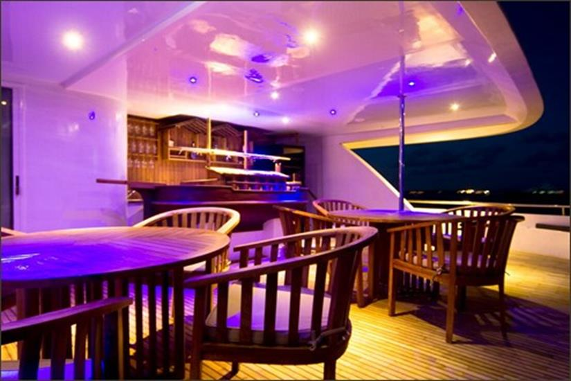 Open air seating area - Ocean Sapphire Liveaboard