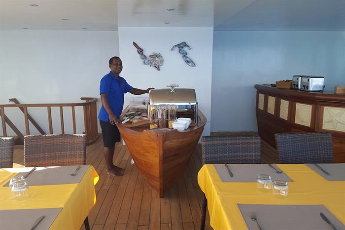 Buffet Table - Carpe Novo Liveaboard