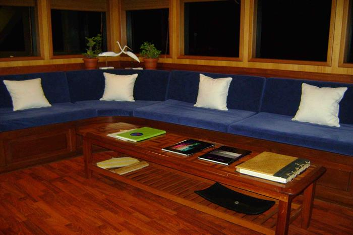 Indoor Lounge Area - Sachika Liveaboard