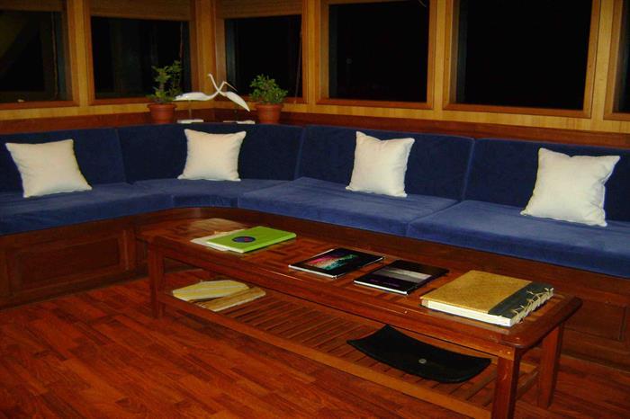 Indoor Lounge Area - Sachika Liveaboard