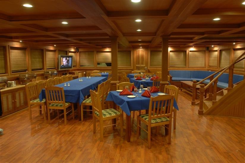 Indoor Dining Area - Sachika Liveaboard