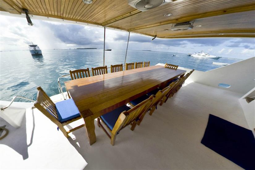 Back Deck Area - Moonima Liveaboard