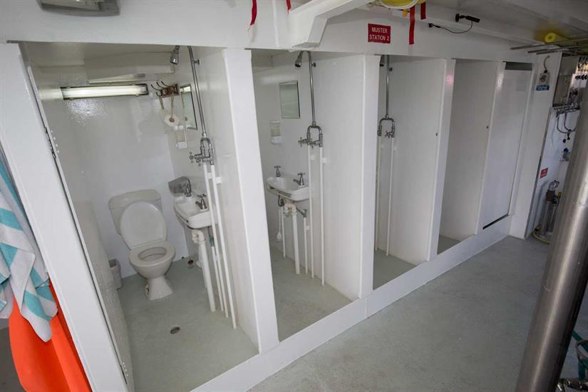 Dive Deck Bathrooms - Taka Liveaboard
