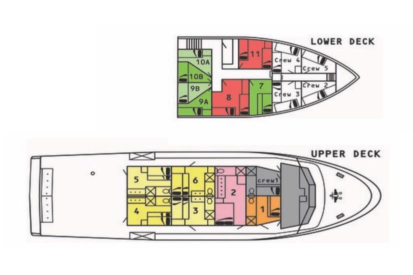 Taka Liveaboard Deck Plan