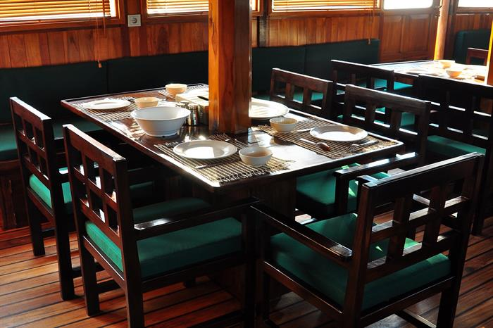 Dining Area - Tambora Liveaboard
