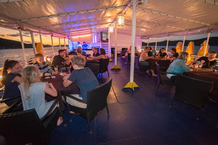 MV Discovery Palawan - Spacious outside dining area