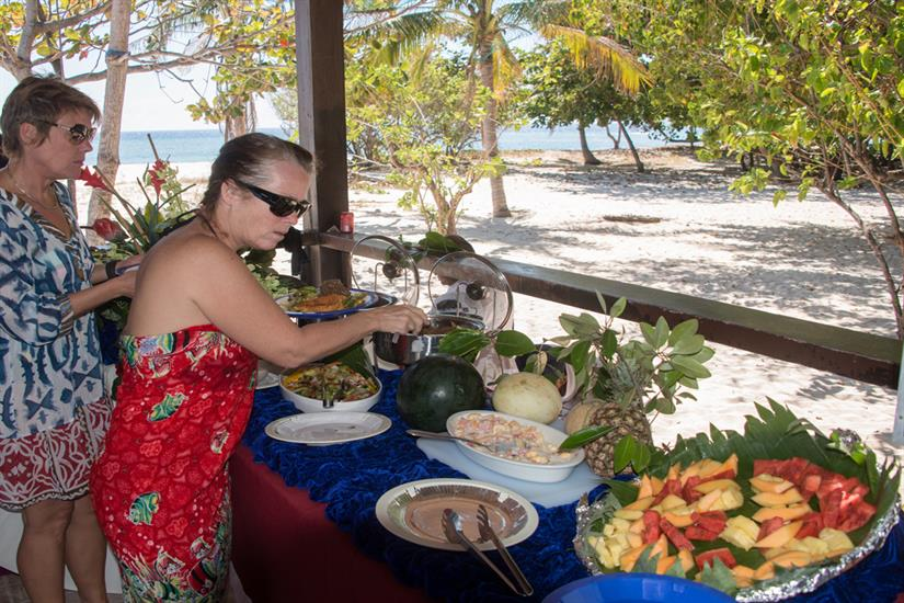 Island refreshments from MV Discovery Palawan