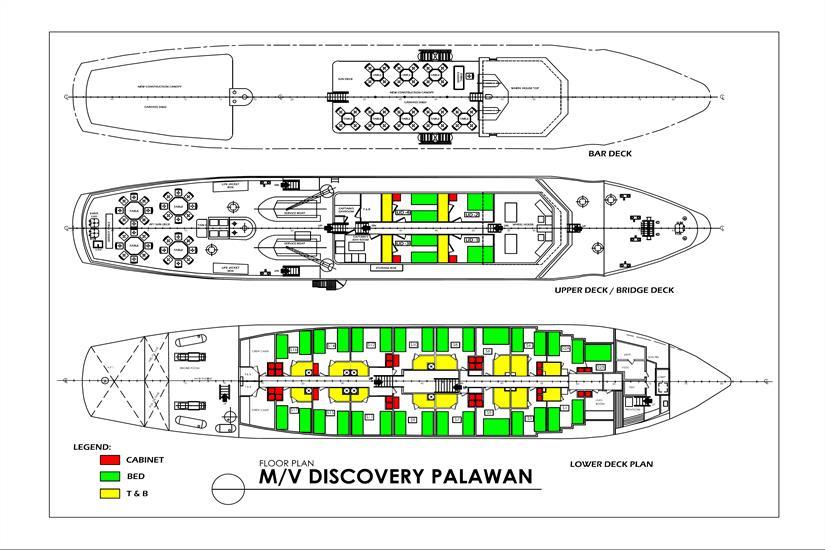 MV Discovery Palawan Deck Plan