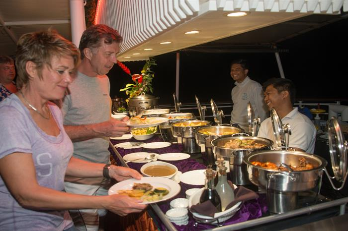 A variety of tasty meals provided - MV Discovery Palawan