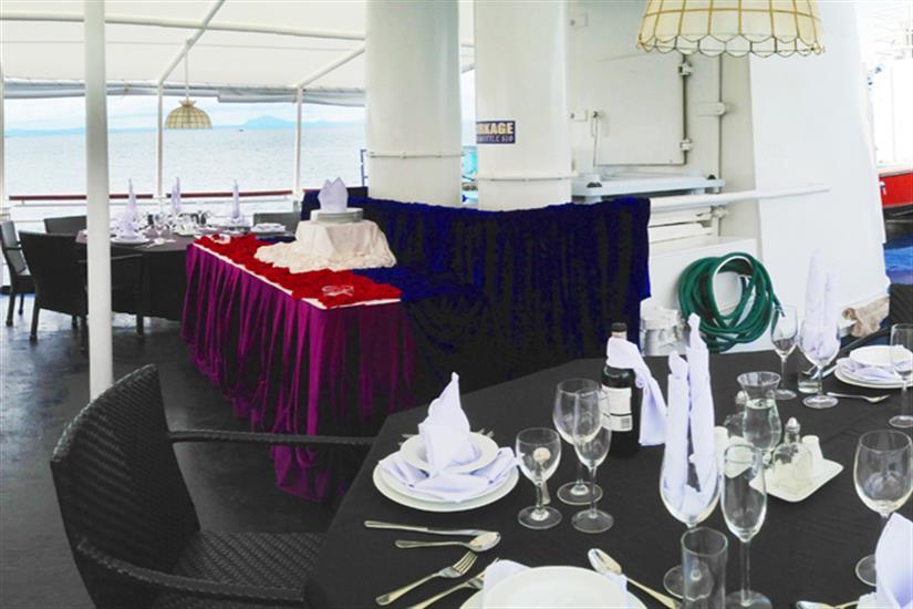 Dining/Buffet area - MV Discovery Palawan