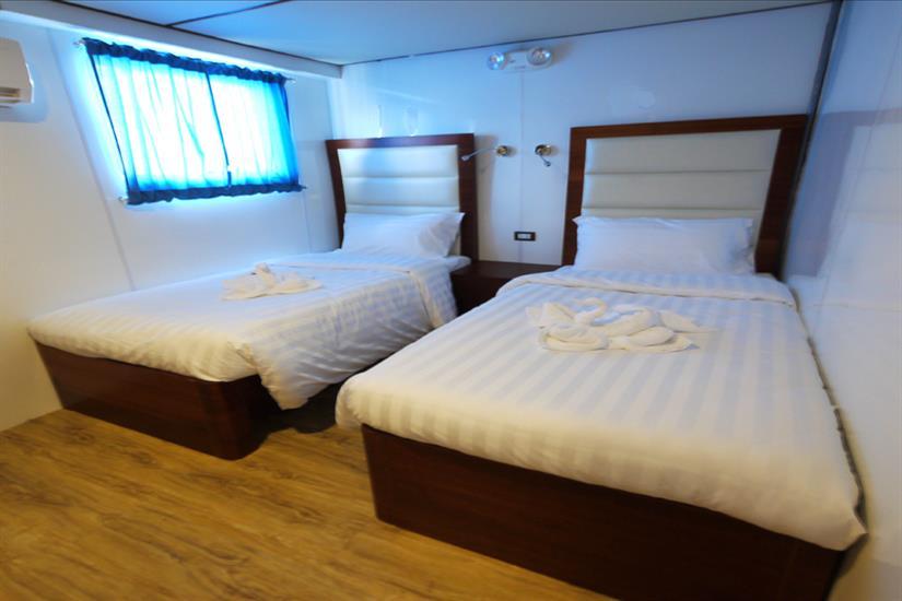 MV Discovery Palawan - Upper deck twin cabin