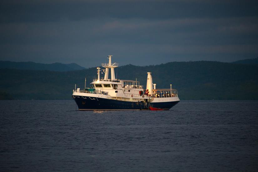 MV Discovery Palawan at sea