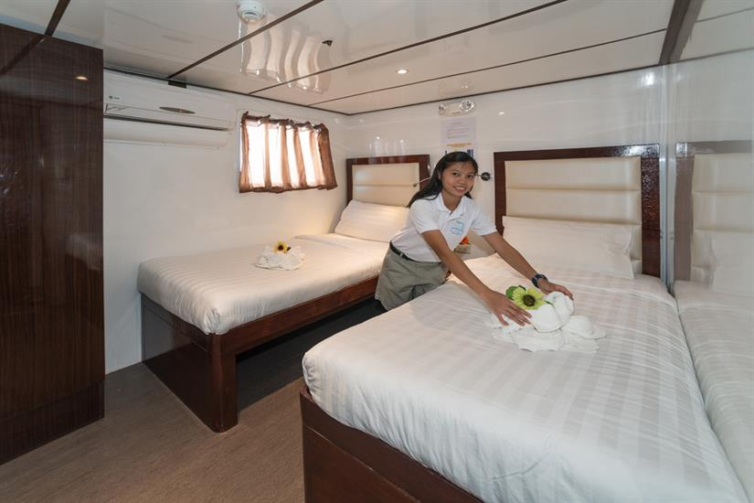 Twin cabin upper deck - MV Discovery Palawan