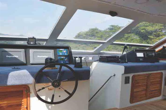 Captains Helm - Nortada Liveaboard Galapagos