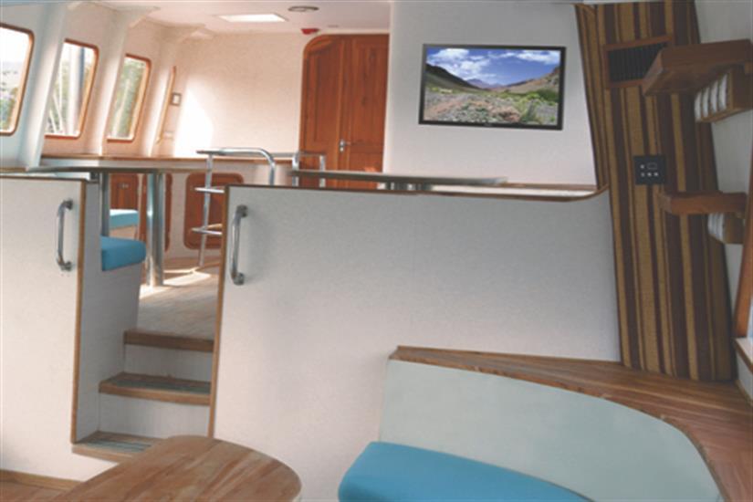 Indoor Salon - Nortada Liveaboard
