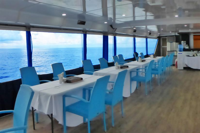 Dining area with amazing views - MV Discovery Adventure