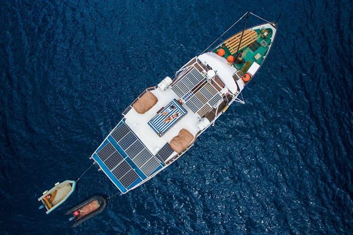Arial View - MV Empress II