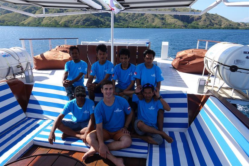 Crew aboard the MV Empress II Indonesia