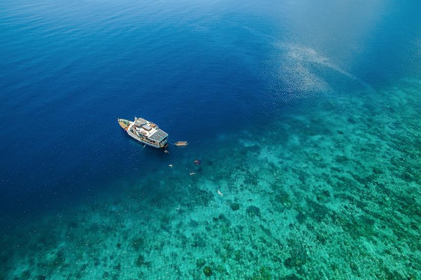 Crystal clear waters of Indonesia