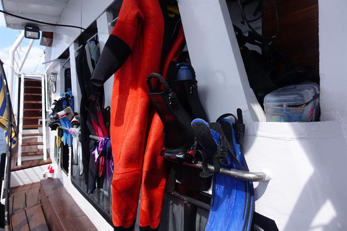 Room for gear storage - MV Empress II
