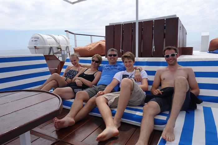 Relaxing aboard MV Empress II