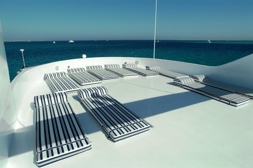 Sun deck with mattresses - MY Dolce Vita