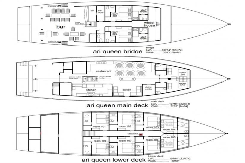 Ari Queen Deck Plan