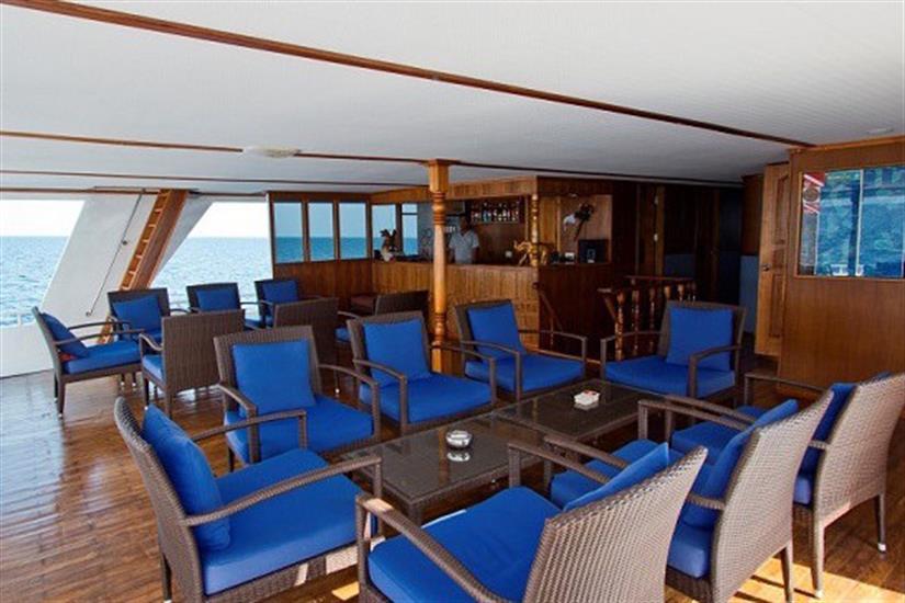 Open air dining area - MV Ari Queen