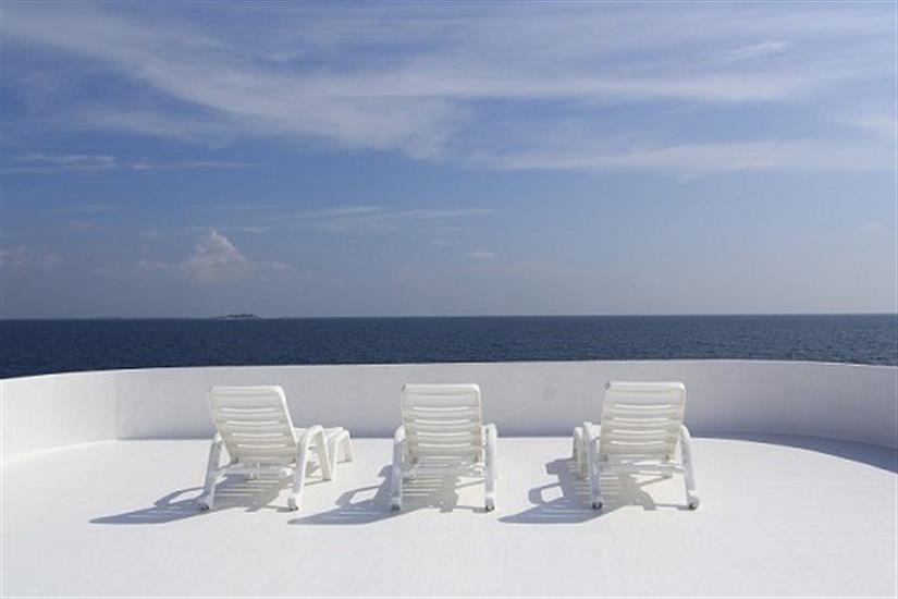 Sun deck - MV Ari Queen