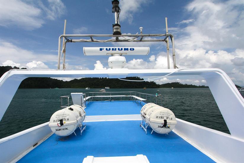 Top deck - Manta Queen 7 Thailand
