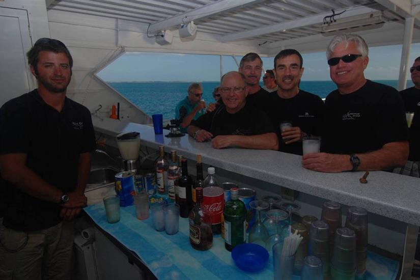 Bar on sun deck