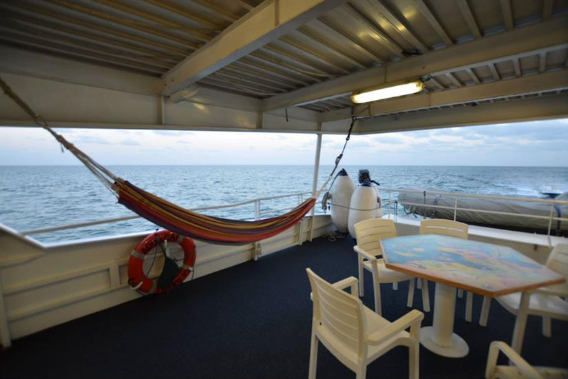 Hammock on alfresco deck