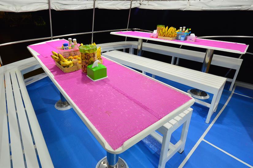 Open air dining area - Manta Queen 6 Similan Islands
