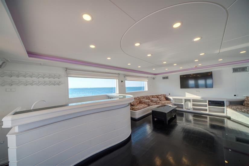 Indoor bar/lounge area with 50in TV