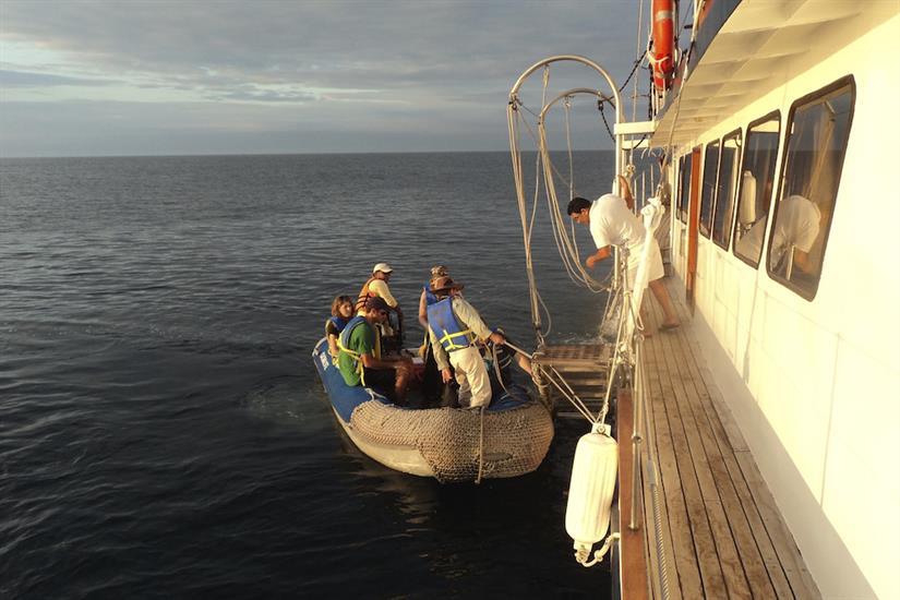 Dinghy for shore excursions